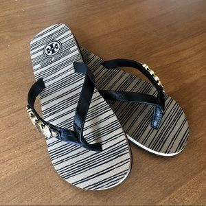 Tory Burch Jeweled Flip Flops